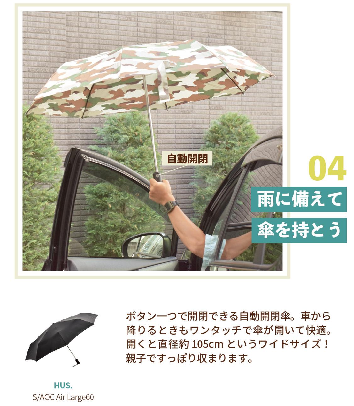 雨に備えて傘を持とう